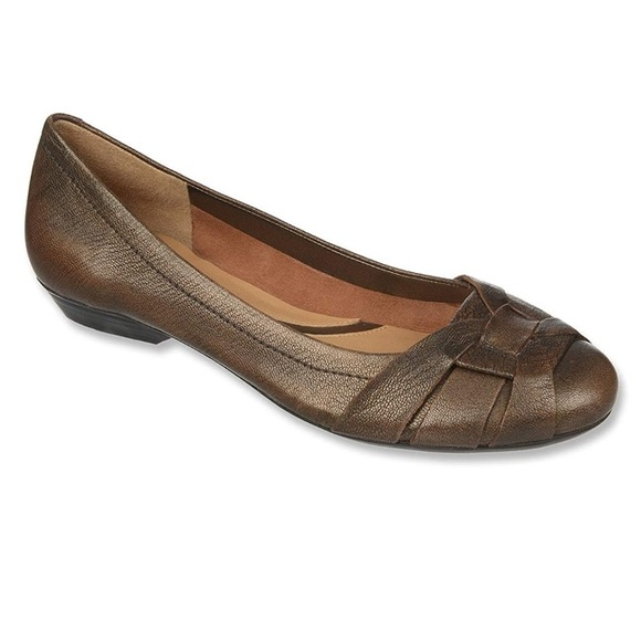 NATURALIZER Maude Leather Ballet Flats - Size 9.5N
